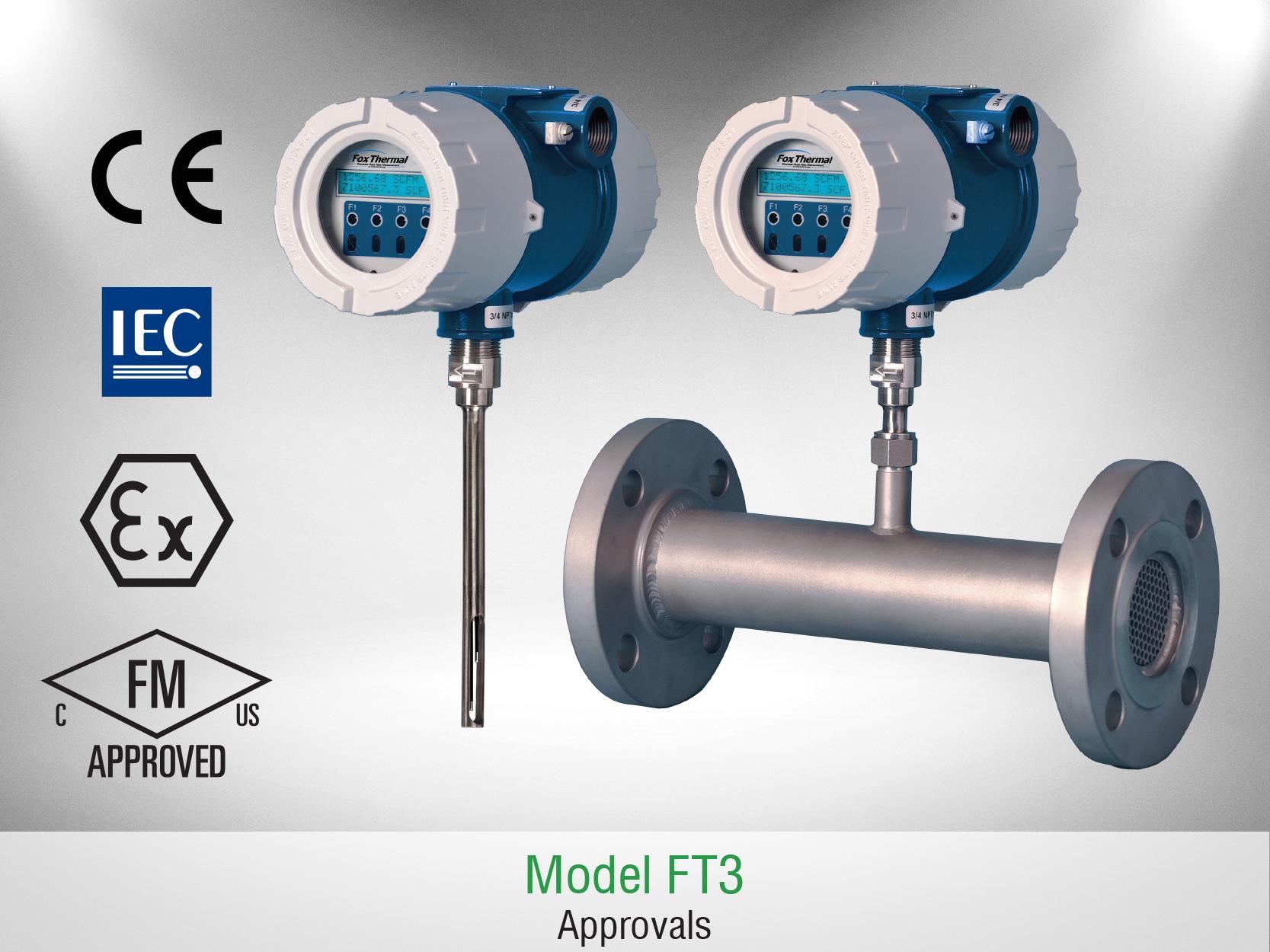 Fox Thermal Model FT3 Flow Meter