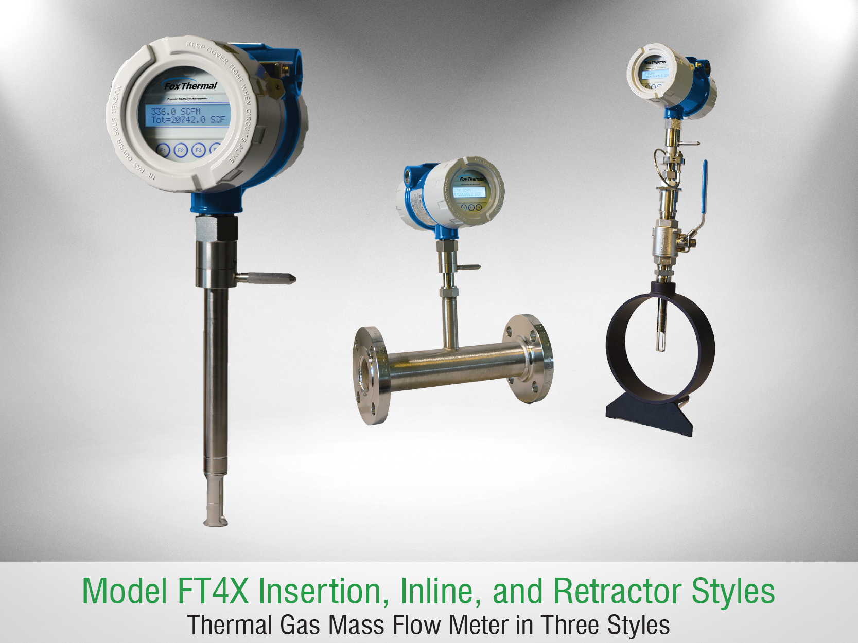 Fox Thermal Model FT4X Flow Meter