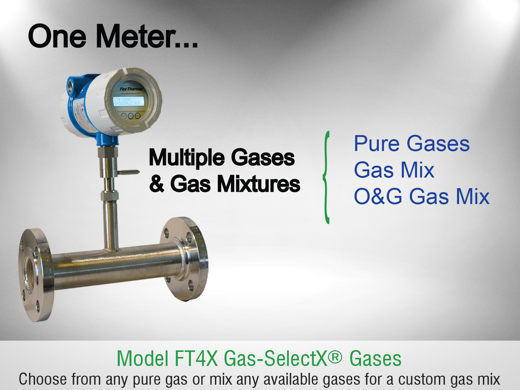 Fox Thermal Model FT4X Flow Meter with 2nd Generation Gas-SelectX